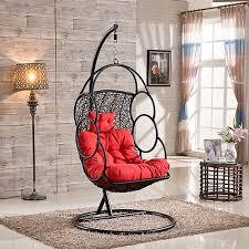 cheap price indoor outdoor patio rattan wicker hanging moon swing