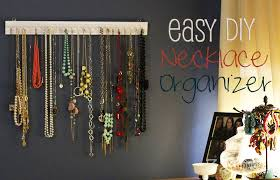 earring necklace organizer images Easy diy necklace organizer 32 turns32 turns jpg