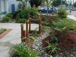 backyard slope planting bed design and ma landscaping ideas for