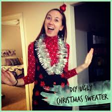 diy ugly christmas sweater vest my rolling home