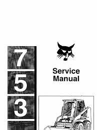 bobcat 753 service manual tire motor oil