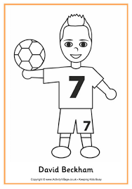 david beckham colouring page