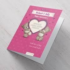 hugs personalised anniversary card special from 99p