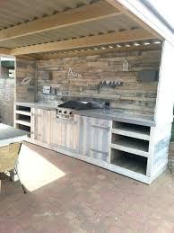 cuisine exterieure en cuisine exterieure bois meuble cuisine exterieure bois meuble