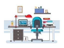 bureau imprimante lieu de travail de bureau intérieur créatif le café et l