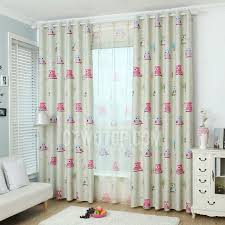Insulated Thermal Curtains Printed Owl Pattern Thermal Insulated Blackout Polyester Curtains