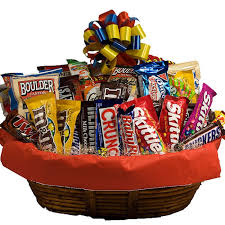 candy gift baskets candy gift basketflower with