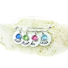 mothers birthstone bracelets jc jewelry design s birthstone and name charm bracelet