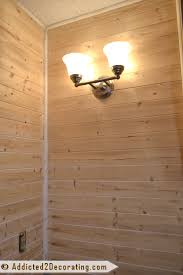wood planked walls in a bathroom and my crisis of conscience