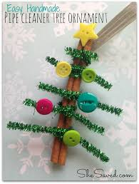 easy craft pipe cleaner tree ornament