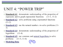 unit 4 u201cpower trip u201d standard 4 1 demonstrate understanding of
