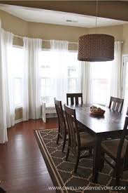 Dining Room Bay Window Treatments - bay window curtain rod window bay window treatments and bay