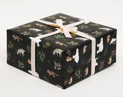 black matte wrapping paper wrapping paper etsy