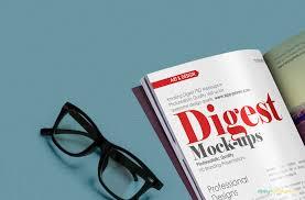 free resume template layout majalah png background effects indesign free digest size magazine psd mockup zippypixels