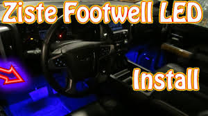 Led Light For Car Interior Diy Ziste Footwell Led Installation How To Install Automotive