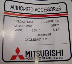 dsm mitsubishi logo 1995 1999 eclipse u0026 spyder genuine oem mitsubishi gray front