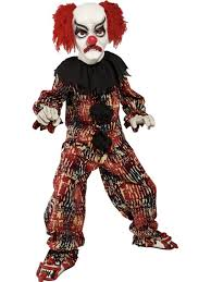 Scary Halloween Clown Costumes Child Scary Halloween Clown Costume 49 95 Fancy Dress