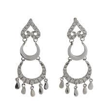 Cubic Zirconia Chandelier Earrings Beryl Italian Cubic Zirconia Chandelier Earrings In 18ct