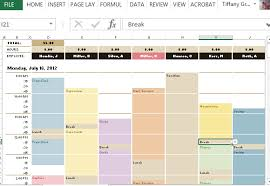 Employee Schedule Template Excel Employee Schedule Hourly Increment Template For Excel