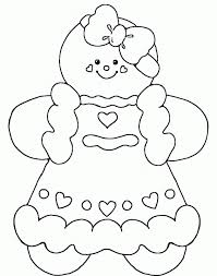 gingerbread christmas coloring pages coloring home for