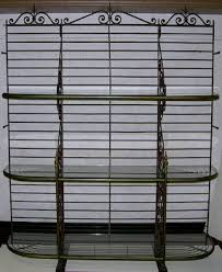 Bakers Rack Wrought Iron Antique Wrought Iron Bakers Rack French Ca 1900 U0027s 03 02 06
