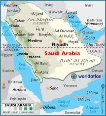Arabian Desert Map Major Cities And Surrounding Countries Of Saudi Arabia Figure 1 Of 7