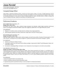 example budget officer resume free sample