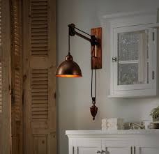 Retro Wall Sconces Sconce New Iron Pulley Adjustable Loft Wall Lamp Vintage Wall
