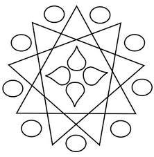 geometric design rangoli coloring page geometric design rangoli