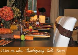 easy thanksgiving table decor idea