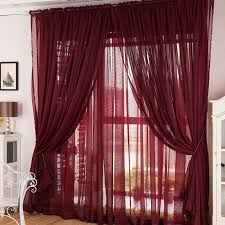 Sheer Maroon Curtains Maroon Sheer Curtains Flowing Wine Color Yarn Solid Sheer Curtains