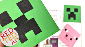 easy minecraft bookmark creeper diy paper crafts youtube
