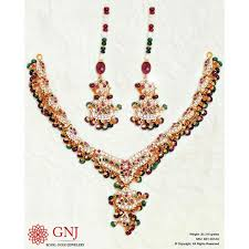 yellow gold necklace set images Gemnjewelery designer gemstone yellow gold royal necklace set jpg
