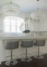 Grey Leather Bar Stool Impressive White Leather Kitchen Stools Gray Leather Counter