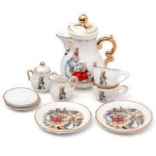 beatrix potter tea set planet beatrix potter miniature tea set rabbit tea
