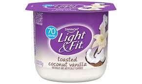 dannon light and fit nutrition dannon light fit yogurt coconut vanilla calories nutrition