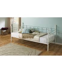 buy abigail metal single daybed frame white at argos co uk