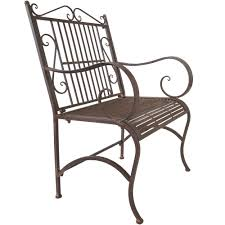 Old Fashioned Metal Outdoor Chairs by Titan Metal Outdoor Arm Chair Porch Patio Garden Deck Decor Rust