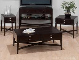 jofran granby espresso coffee table set jfn 934 furniture depot