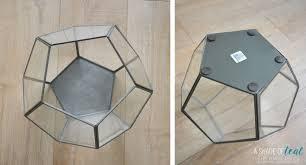 Geometric Pendant Light by Remodelaholic Terrarium To Geometric Pendant Light