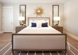 target sunburst mirror with white area rug bedroom transitional
