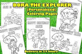 dora explorer coloring book dora decorationsleon