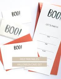 free printable halloween card set invitation u2014 amanda gomes art