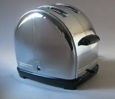Toasters Made In America 1930s Carlisle Electric Flopper Toaster With Spider Web Art Deco