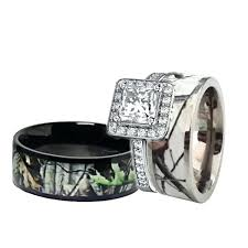 camo wedding sets camo wedding band sets his and hers matching mossy oak brush