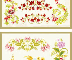 colorful flower ornaments vector vector graphics
