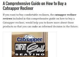 Comfortable Recliners Reviews Best Catnapper Recliner Reviews 2016 Home Advisors