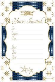 Nautical Bridal Shower Invitations Nautical Bridal Shower Amazon Com