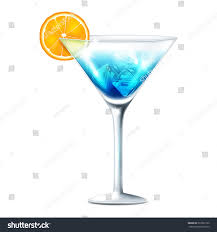 martini clipart no background vector illustration blue cocktail on transparent stock vector