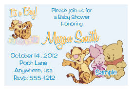 Baby Welcome Invitation Cards Templates Winnie The Pooh Baby Shower Invitations Printable Photo Card